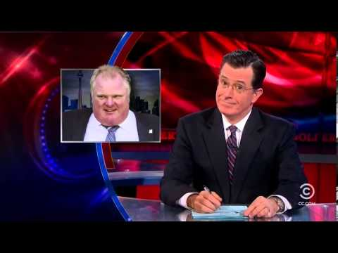 "Mayor Rob Ford: The Colbert Report Toronto ""I've got more than enough to eat at home."""