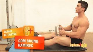 Treino de costas com o atleta Bruno Ramires