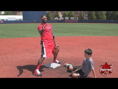 Fielding Tips: How to Properly Tag Out a Runner at 2nd Base with Brandon Phillips