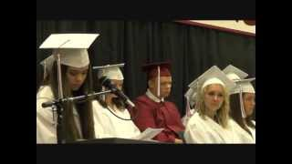 [Salutatorian Jocelyn Arndt Sings to the Class of 2013]