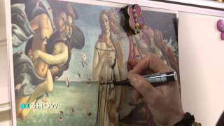 Provocare AISHOW: Valentina Radcenco îmbracă pe David, Venus și pe cele trei grații