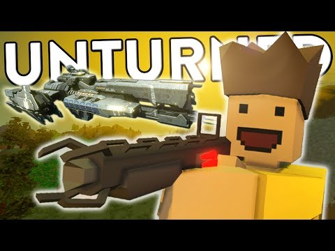 RAIDING A GIANT SPACE SHIP - Unturned Funny Moments! (Unturned Mods + RP)