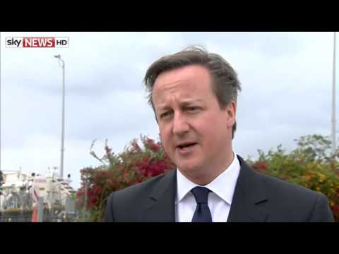 David Cameron Makes His Speech To The Knesset