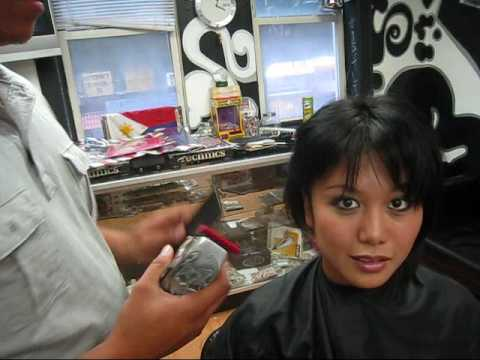 DARE IS A DARE! GIRL WITH A HAIR DESIGN - YouTube