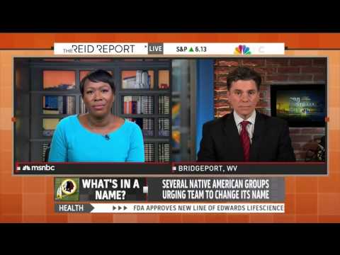 Joy Reid gives trigger warning for the word 'Redskins'