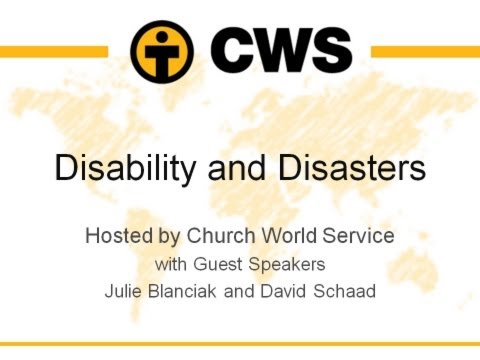 Disability and Disaster April 22, 2014