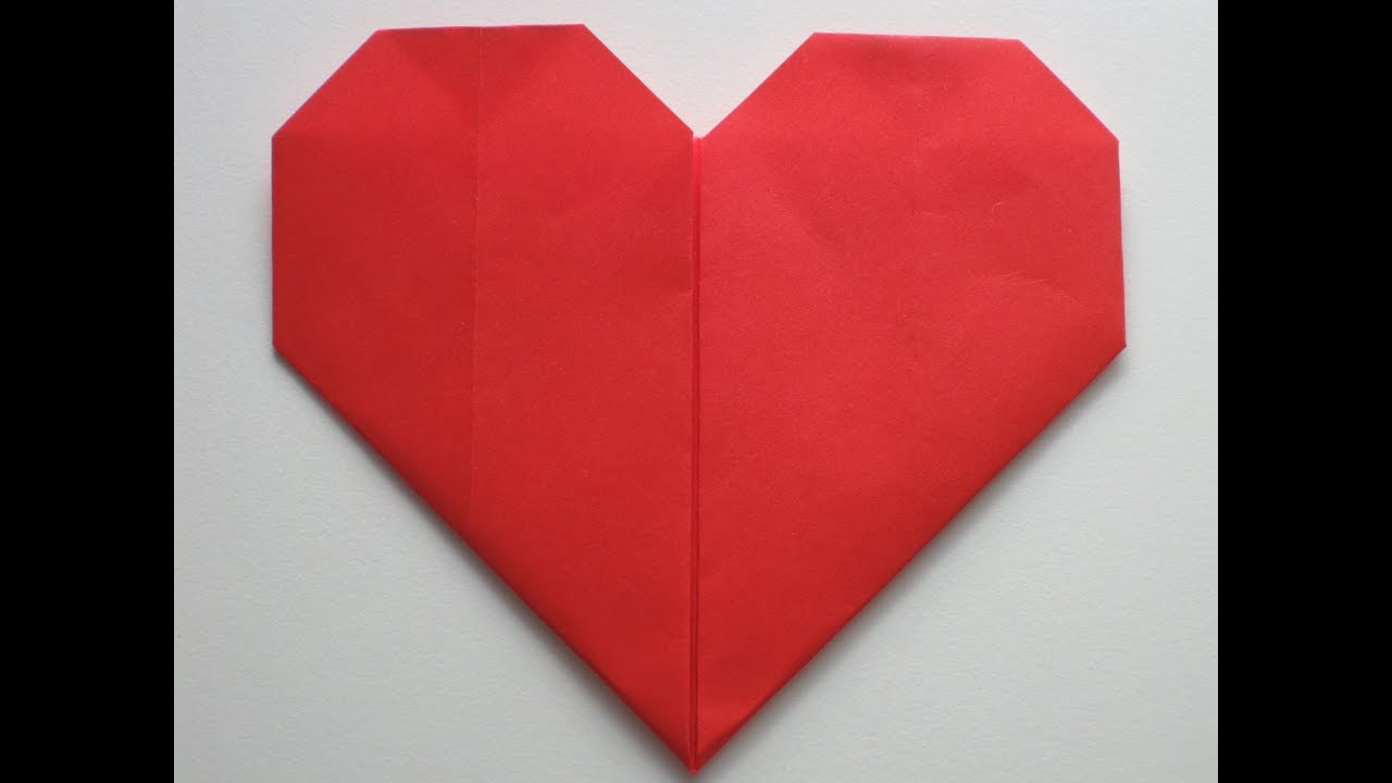 easy origami heart youtube