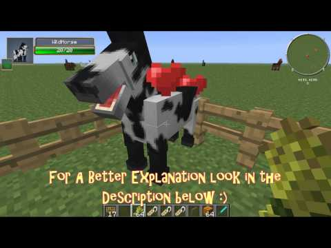 Minecraft Mo' Creatures 1.6.2-Horse Breeding-How To Get a Zorse-*Turtorial*
