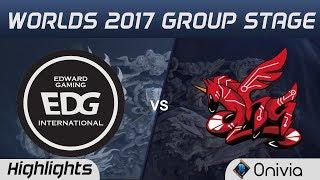 EDG vs AHQ Highlights World Championship 2017 Group Stage Edward Gaming vs AHQ Esports by Onivia