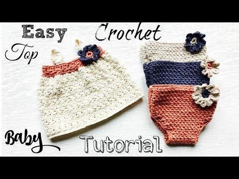 Easy  Newborn Baby Crochet Top Tutorial