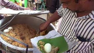 Anda (Egg) Chicken Biryani | Vellore Tamil Nadu India Street Food