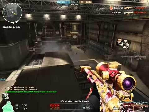 Tổng hợp clip cf pro Săn Zombie v4 số 1 việt nam M4A1 VIP, 3Z Vip M82A1s Full
