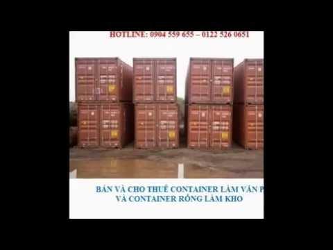 Bán và cho thuê container rỗng làm kho giá rẻ tại Hải Phòng, Hà Nội