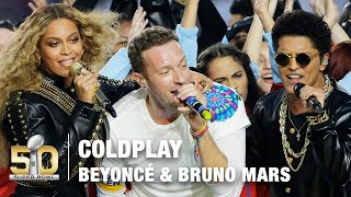 Coldplay's FULL Pepsi Super Bowl 50 Halftime Show feat. Beyoncé & Bruno Mars! | NFL
