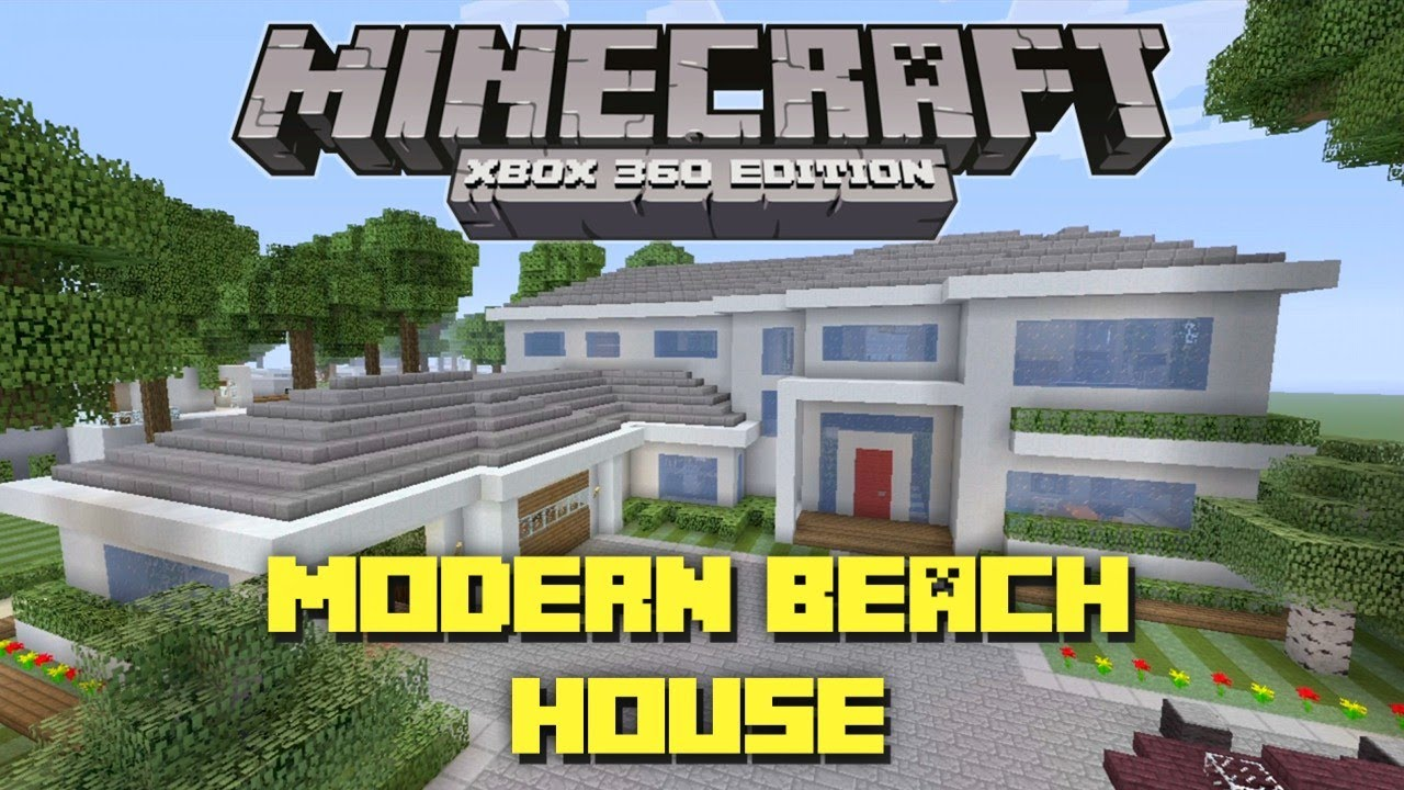 Minecraft modern beach house tour house design and decorating ideas