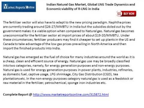 Natural Gas Industry in India