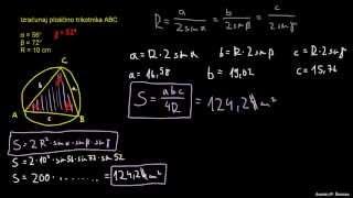 Razreševanje trikotnika – naloga 4