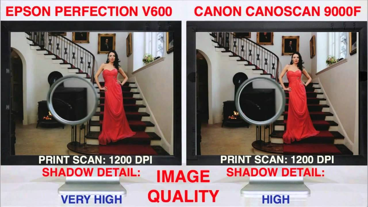 Perfection V600 Vs CanoScan 9000f Scan Off