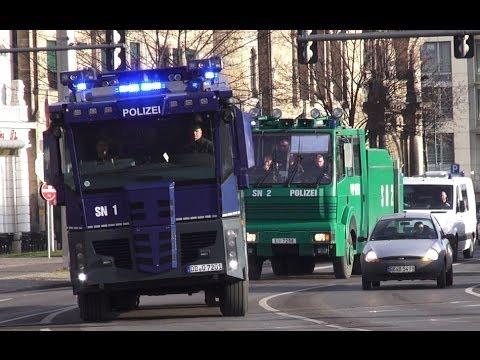 Polizei Großeinsatz RB Leipzig vs Hallescher FC