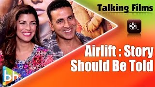 Akshay Kumar, Nimrat Kaur, AIRLIFT movie