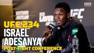 UFC 234: Israel Adesanya Post-Fight Press Conference – MMA Fighting