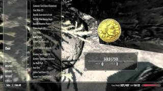 Skyrim Infinite Gold & Secret Chest In Dawnstar. GLITCH