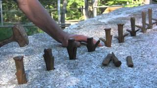 2 Pound Hammer Cuts 26,000 Pound Granite Stone IN HALF!