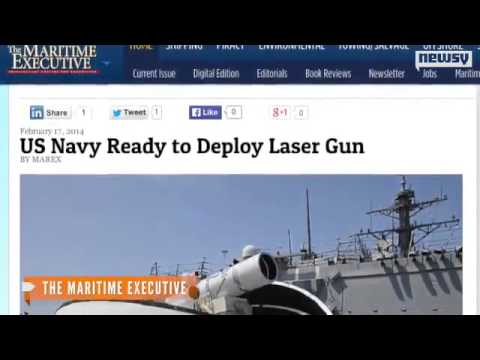 U.S. Navy Rolls Out Laser Cannon; Rail Gun Coming Soon