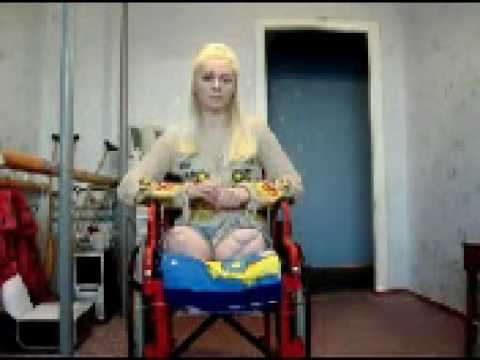 russian female amputee DAK double above knee in wheelchair