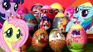 Adventure Game | 14 Surprise Eggs My Little Pony MLP Peppa Pig Minnie Mouse Dora the Explorer Hello Kitty Mickey | 14 Surprise Eggs My Little Pony MLP Peppa Pig Minnie Mouse Dora the Explorer Hello Kitty Mickey