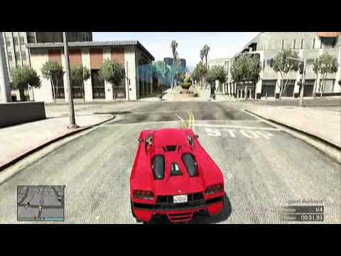 CARERRA DE AUTOS SUPER EN GTA 5 - GTA V