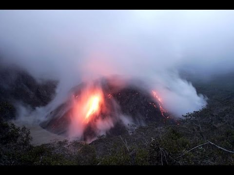 Mount Kelud Volcano Erupts in Java Indonesia 2014
