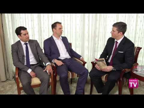 Marco Brandstaetter, UAE-IX, and Ivo Ivanov, DE-CIX, talk to Capacity TV