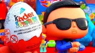 PSY Opens A Kinder Surprise Egg GANGNAM STYLE & Cookie