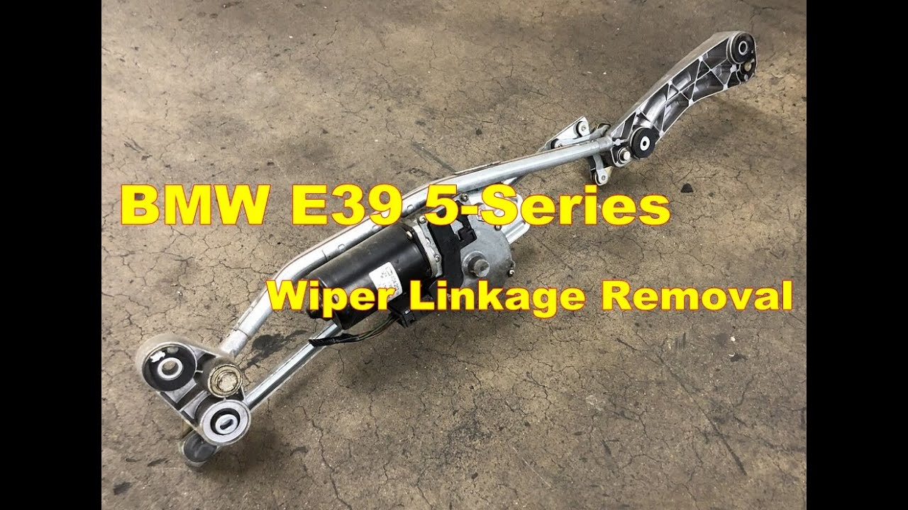 Bmw 528i Windshield Wiper Blade Motor Removal M5 540i 525i