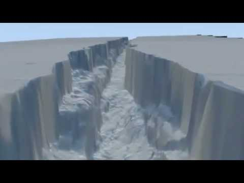 Fly Through,Antarctica,Pine Island Glacier,Ice Crack