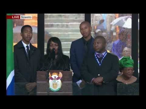 Mandela's Grandchildren Pay Tribute to Madiba