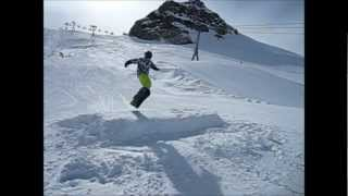 First Snowboard Jumps (in Slow Motion)