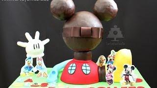 Paso A Paso Tarta La Casa De Mickey Mouse. Primera Parte