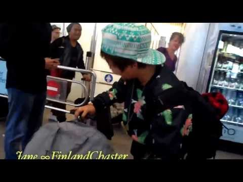 EU Chasters meeting Charice at the airport in Berlin
