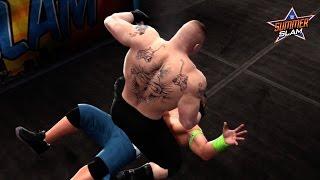 WWE Summerslam 2014 John Cena Vs Brock Lesnar WWE