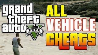 GTA 5 ALL CAR CHEAT CODES! (Vehicle Cheat Codes GTA V Xbox