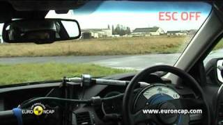 Honda Accord ESC test - Euro NCAP 2009