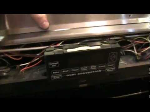 Jenn Air Oven Remove Front Panel Youtube