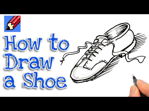 how to draw a wooden shoe