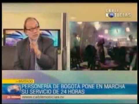 Entrevista al Dr. Ricardo Maria Cañón, Personero de Bogotá en Cable Noticias Parte 1