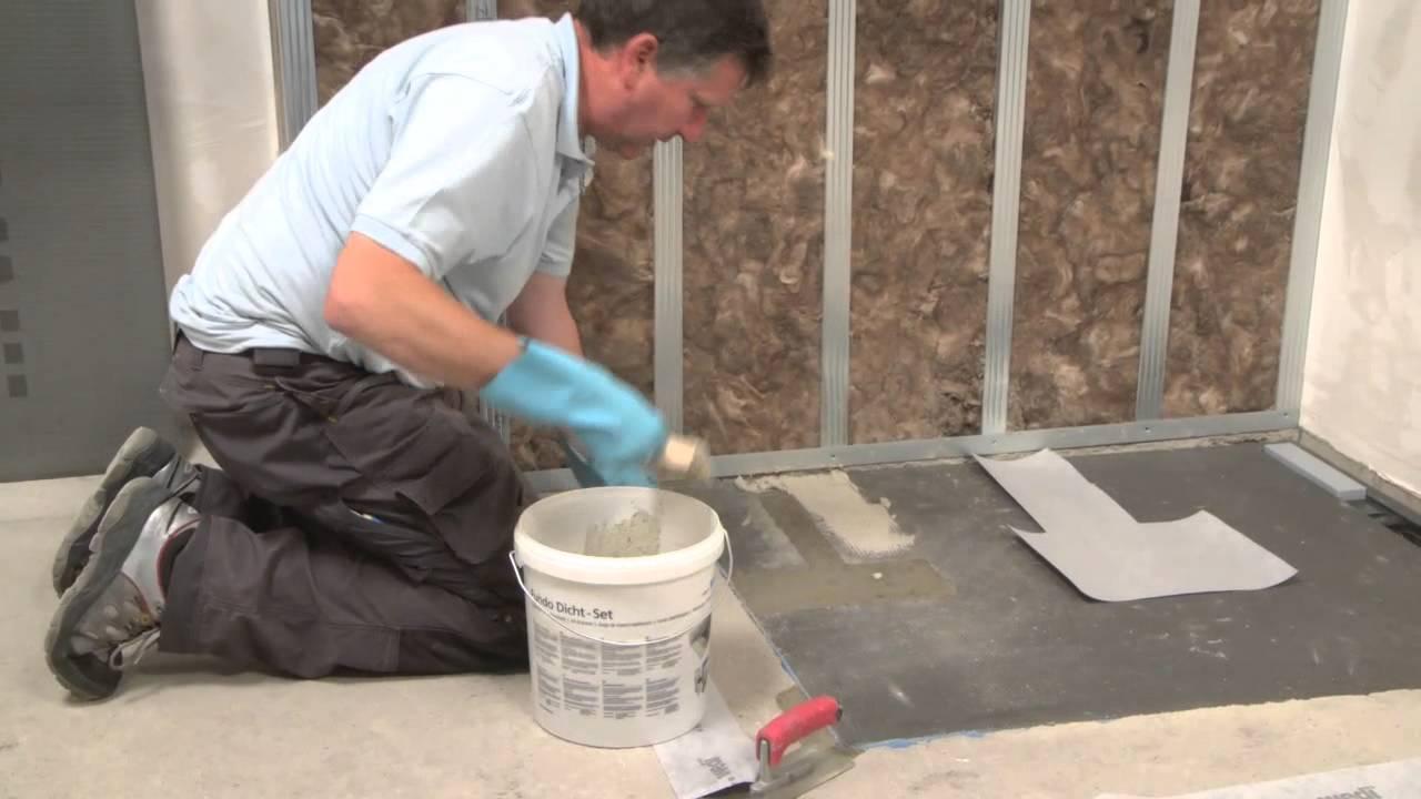 Bodengleiche Dusche Ablauf : wedi DE – Training: Bodengleiche Dusche Fundo Plano Linea einbauen