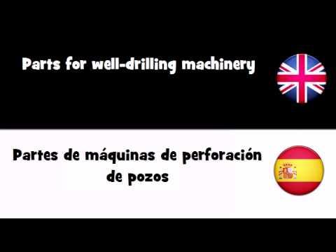 APRENDER INGLÉS = Partes de máquinas de perforación de pozos