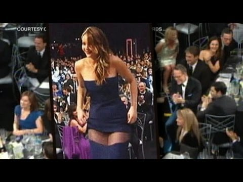 Jennifer Lawrence Dress Rip Not A Wardrobe Malfunction at SAG Awards
