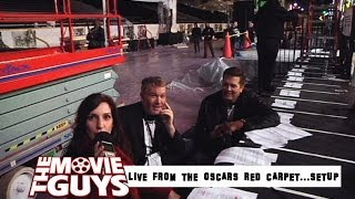 THE MOVIE SHOWCAST LIVE FROM THE OSCARS RED CARPET...SETUP